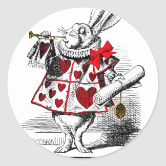 The White Rabbit Round Sticker