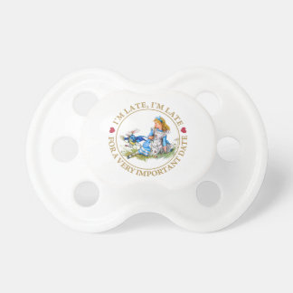 The White Rabbit Rushes By Alice In Wonderland Pacifiers