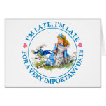 The White Rabbit Rushes By Alice In Wonderland Greeting Card