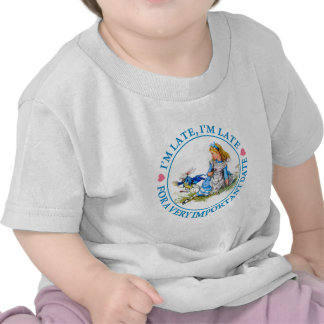 The White Rabbit Rushes By Alice In Wonderland T-shirts