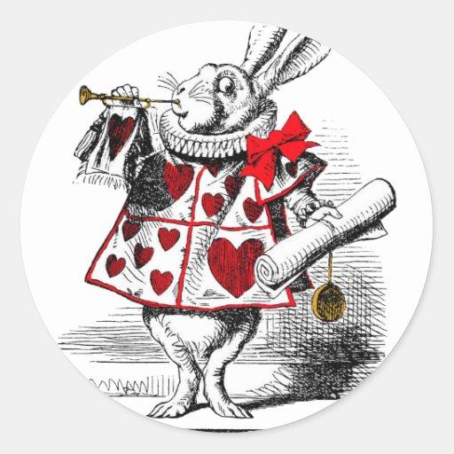 The White Rabbit Round Stickers
