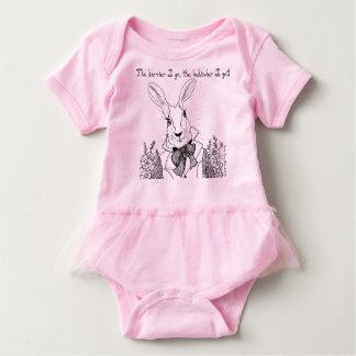 The White Rabbit, The Hurrier I Go Baby Bodysuit