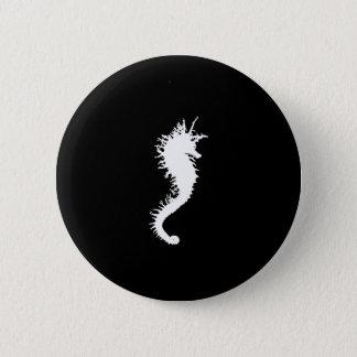 The White SeaHorse 6 Cm Round Badge