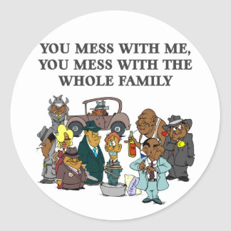 The Whole Family Round Sticker