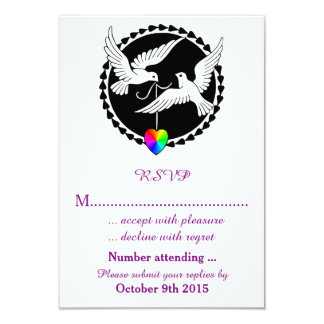 The Whole of the Rainbow Lesbian Wedding RSVP Invites