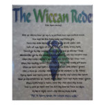The Wiccan Rede Canvas Poster