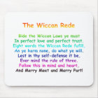 The Wiccan Rede Mouse Mat