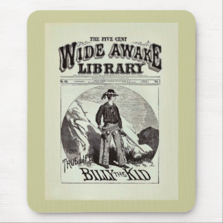 The Wide Awake Library - Billy The Kid - Vintage Mouse Pad