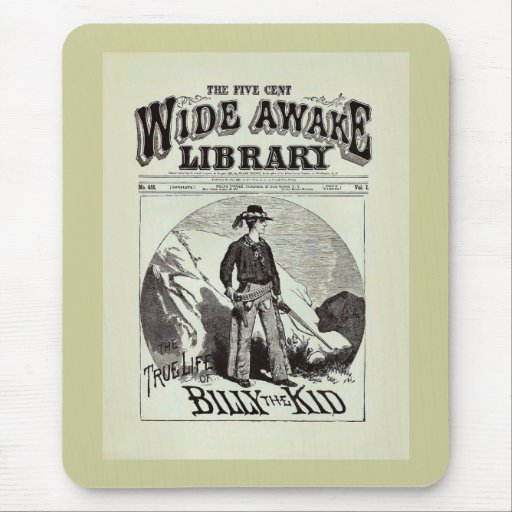 The Wide Awake Library - Billy The Kid - Vintage Mouse Pads