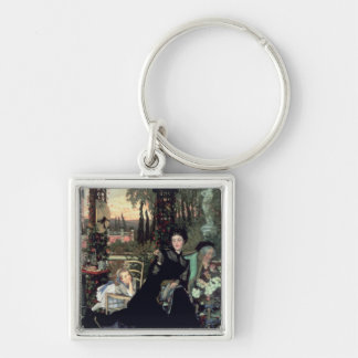 The Widow, 1868 Silver-Colored Square Key Ring