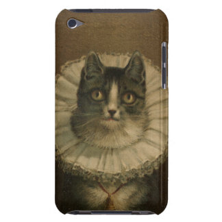The Widow antique vintage cat painting kitten Barely There iPod Case