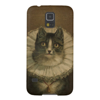 The Widow antique vintage cat painting kitten Cases For Galaxy S5