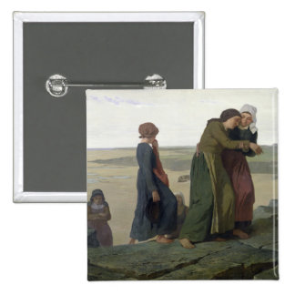 The Widow or The Fisherman's Family 15 Cm Square Badge