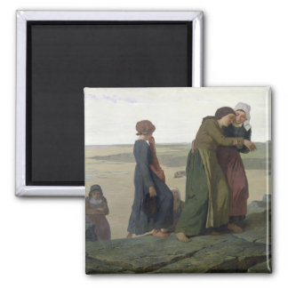 The Widow or The Fisherman's Family Square Magnet