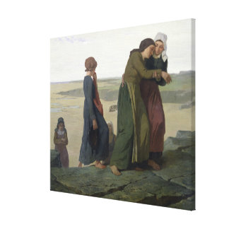 The Widow or The Fisherman's Family Stretched Canvas Print