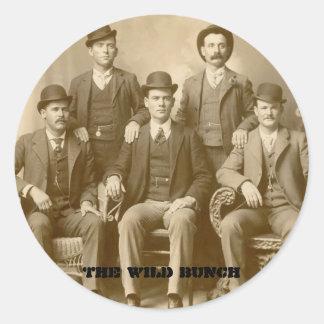 The Wild Bunch - Butch Cassidy & Sundance Kid Round Sticker