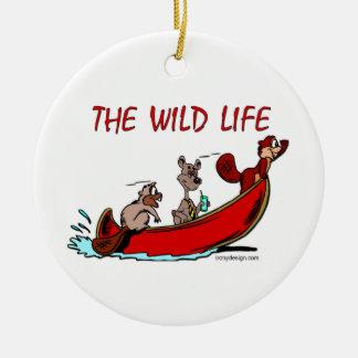 The Wild Life Round Ceramic Decoration