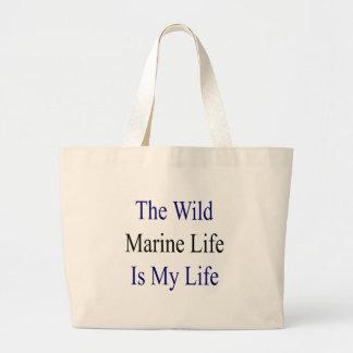 The Wild Marine Life Is My Life Jumbo Tote Bag