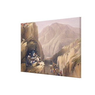 The Wild Pass of Siri-Kajoor, from 'Sketches in Af Canvas Print