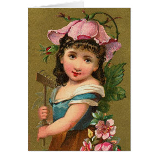 The Wild Rose Flower Nature Fairy Note Card