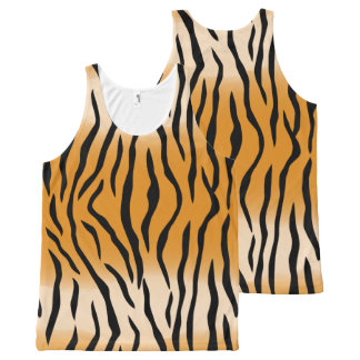 The Wild Tiger Stripes All-Over Print Tank Top