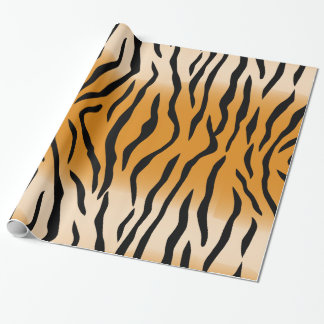 The Wild Tiger Stripes Wrapping Paper
