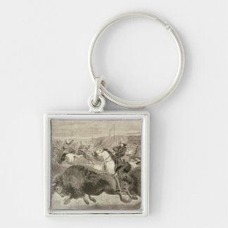 The 'Wild West' at the Great American Silver-Colored Square Key Ring
