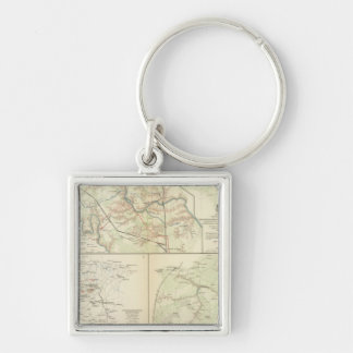 The Wilderness, N Anna, Spotsylvania CH Silver-Colored Square Key Ring