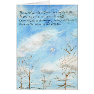 """The Wind in the Willows"" verse on Painting+inside Card"