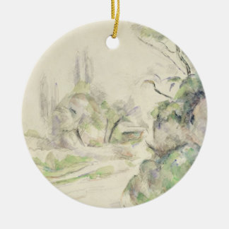 The Winding Road, c.1900-06 (w/c on paper) Round Ceramic Decoration