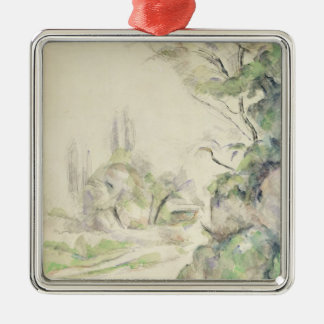 The Winding Road, c.1900-06 (w/c on paper) Silver-Colored Square Decoration