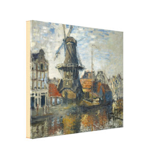 The Windmill on the Onbekende Gracht, Amsterdam Canvas Print