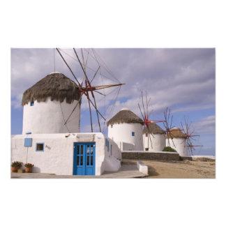 The windmills of Mykonos on the Greek Islands Art Photo
