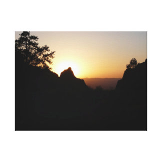 The Window at Sunset-Big Bend National Park Stretched Canvas Prints