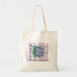The Window - Odd Colorful Abstract Budget Tote Bag