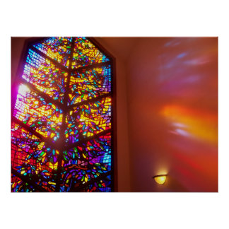 The WIndow to Heaven Stained Glass Church Poster