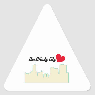 The Windy City Triangle Stickers