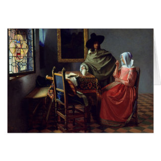 The Wine Glass, Jan Vermeer Greeting Card