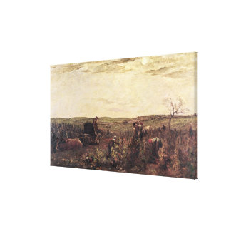 The Wine Harvest in Burgundy, 1863 Gallery Wrapped Canvas