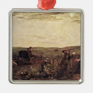 The Wine Harvest in Burgundy, 1863 Christmas Ornament