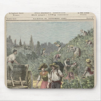 The Wine Harvest Mouse Mat
