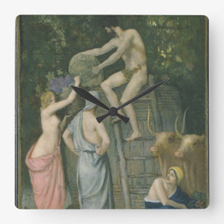 The Wine Press by Pierre Puvis de Chavannes Clock