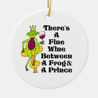 "The Wine Prince ""Fine Wine Between Frog & Prince"" Christmas Ornament"
