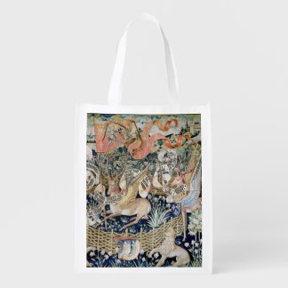 The Winged Deer (tapestry) Reusable Grocery Bag