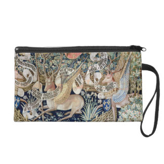 The Winged Deer (tapestry) Wristlet Clutch