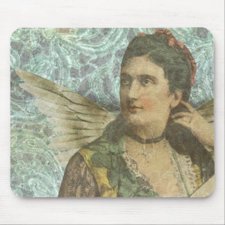 The Winged Lady Digital Collage Mouse Pad