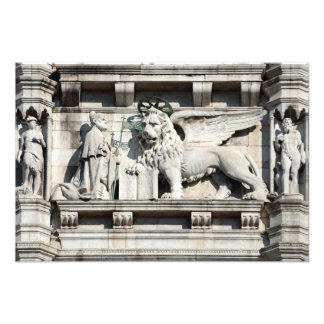 The winged lion of Saint Mark Photo Print
