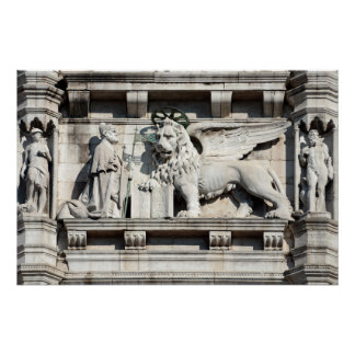 The winged lion of Saint Mark Poster
