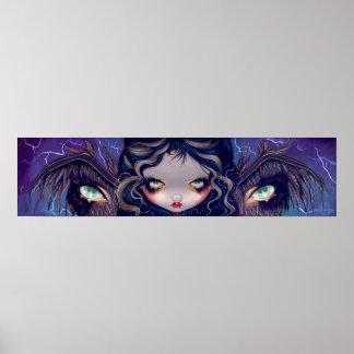 The Wings Have Eyes big eye lowbrow Art Print