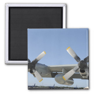 The wings of an LC-130 Hercules Square Magnet